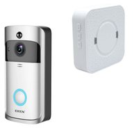 Wholesale visions audio - EKEN Home Video Wireless Doorbell 2 720P HD Wifi Real-Time Video Two Way Audio Night Vision PIR Motion Detection with bells 1PCS LOT