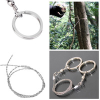 Wholesale resistance wear - Stainless Wear Resistance Steel Wire Saw Camping Saws Practical Emergency Survival Gear Outdoor Tools DDA377