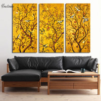 Wholesale gustav klimt pictures - 3 piece wall art Decoration Painting - Gustav Klimt Oil on Canvas Home Decor Wall Pictures For Living Room