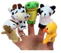 spielzeug geschichte requisiten großhandel-Finger Plüschtiere Finger Tier Plüschtiere Erzählen Sie Geschichte Requisiten Cartoon Tiere Kinder Spielzeug Kind Baby Favor Dolls