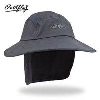 bob rápida al por mayor-2018 Protector solar al aire libre Anti-ultravioleta Sombra Escalada Sombrero de secado rápido Protección del cuello a lo largo del sombrero del pescador Sombrero Sun Bob