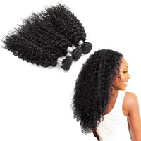 Wholesale afro synthetic curly hair weave online - Cynosure Afro Human Hair Bundles Bundles No synthetic Brazilian Curly Wave Hair Weaving Inch Hair Extensions
