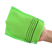 4b9eec34efd04 Wholesale exfoliating gloves cloth online - 18 cm Glove Type Double Sided  Bath Towel Exfoliating Bath