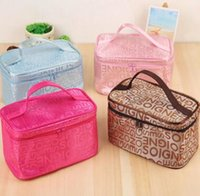 Wholesale Cheap Blue Bags - Hot Sale Colors Many Designs Cheap wholesale Women's Travel Makeup quartet cosmetic Bag