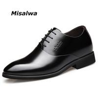 elevador de zapatos al por mayor-Misalwa Men Elevator Dress Shoes Hombres Derby Elegant Formal Shoes Altura de la oficina que aumenta el traje de la boda