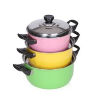 Wholesale Wholesale Stainless Steel Pots - 3pcs  Set Stainless Steel Cooking Pot Stockpot Gas Induction Cooker Soup Pots Safe Quality Nonstick Pan Household Canning Pot