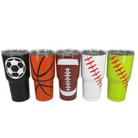 Wholesale Football Water Bottles - Stainless Steel Vacuum Cup Baseball Football Basketball Outdoors Hiking Climbing Water Bottle Double Wall Vacuum Bottles Without logo 180309