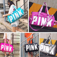 Wholesale Letters For Doors - Letter Pink Beach Storage Bag Unisex Travel Shoulder Bag Waterproof Luggage Bag For Gym Sport Gifts HH7-1038