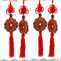 Wholesale ancient chinese accessories for sale - 2018 Red Chinese knot FENG SHUI Set Of Lucky Charm Ancient King I CHING Coins Prosperity Protection Good Fortune Luck Home Car Decor