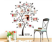 Wholesale best abstract art for homes resale online - Romantic Photo Frame Sticker Radermachera Sinica Wall Sticker PVC Waterproof Without Picture Frame DIY Easy For Bedroom Home Best Skin