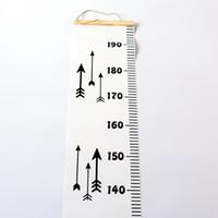 yüksekliği ölçen çocuklar toptan satış-Bebek Çocuk Çocuk Yükseklik Cetvel Çocuk Büyüme Boyutu Grafik Yükseklik Grafik Tedbir Cetvel Duvar Sticker Odası Ev Dekorasyon için Asmak