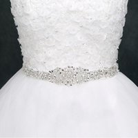 ingrosso le cinghie delle cinghie-Telai da sposa economici per la sposa Abiti da sposa da sposa Cinture con strass Crystal Ribbon Sashes in stock Factory Supplier