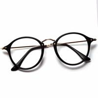 óculos redondos ópticos para homens venda por atacado-Atacado Mulheres Homens Do Vintage Rodada Armações de Óculos Retro Óculos Ópticos Óculos de Armação Óculos de Proteção Oculos frete grátis