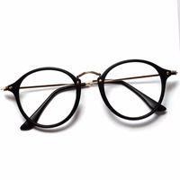 ingrosso occhiali ottici-Occhiali da sole all'ingrosso uomini Vintage Round Eyewear Frames Occhiali da vista Occhiali da vista Occhiali Goggle Oculos spedizione gratuita