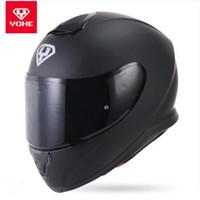o capacete completo venda por atacado-2017 Nova YOHE Full face Capacetes Da Motocicleta Inverno manter quente Motocicleta Completa face Capacetes Com Lente PC