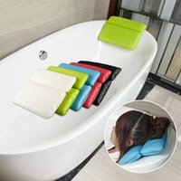 Wholesale bath pillows for sale - Group buy 1PCS PVC foam sponge SPA Bath Pillows Bathtub Headrest with Suction Cup Waterproof Bathroom Products Soft Pillows