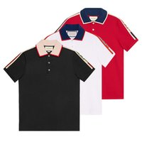 7e2e83d0 NEWEST 18ss Italy designer polo shirt Luxury Brand t shirts mens Casual  polos with embroidery Letter G Fashion strip Print Cotton polos