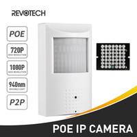 cámara nocturna invisible al por mayor-POE 940nm Invisible IR 720P / 1080P PIR Cámara IP 1.0MP / 2.0MP 48 LED Visión Nocturna 3.7mm Seguridad Interior ONVIF P2P CCTV Cam