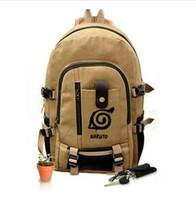 backpack naruto UK - Free Shipping New Naruto Backpack Boy Girl Hokage Ninjia School Bags For Teenagers Bag Japanese Anime Canvas Backpacks