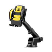 дюймовый держатель автомобильного держателя gps оптовых-Гибкий автомобильный держатель телефона приборной панели Windshied всасывания типа мобильный держатель автомобиля вентиляционное отверстие воздуха на выходе крепление GPS стенд для 3 до 6,5 дюймов iPhone