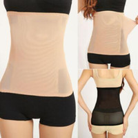 Wholesale invisible tummy trimmers - Invisible Body Shaper Tummy Trimmer Waist Stomach Control Girdle Slimming Belt Invisible Tummy Trimmer With Opp Package CCA9906 300pcs