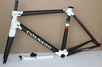 quadro completo de bicicleta de fibra de carbono venda por atacado-Colnago C60 T1000 quadro completo da bicicleta de estrada de fibra de carbono quadro de bicicleta de carbono BB386 tamanho XXS XS S M L XL acabamento fosco brilhante