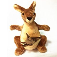 Wholesale Kangaroo Plush - 25cm Plush Kangaroo Toys with Soft PP Cotton Creative Stuffed Animal Dolls Cute Kangaroos with Small Baby Toys Gift for Children