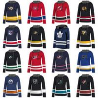 ladies jerseys NZ - Lady Custom Any Name & Number Hockey Hoodies Jersey Blackhawks Ducks Oilers Hurricanes Rangers Canadiens Predators Devils Sharks Jerseys