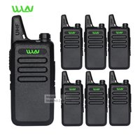Wholesale Long Range Security - 6pc Professional Walkie Talkie WLN KD-C1 UHF Long Range 2 Way Radios Handheld Mobile Ham CB Security Radios Communicator Battery