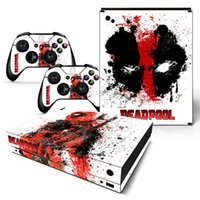 Wholesale Xbox Vinyl Decals - Deadpool Design Vinyl Decals For Microsoft xbox one X Console and 2 Controllers Cover Skin Stickers