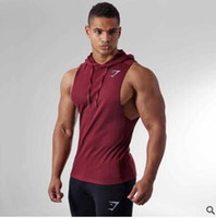 Wholesale mens hottest hoodies - Hot 2018 Mens Cotton Hoodie Sweatshirts fitness clothes bodybuilding tank top men Sleeveless Trend Tees Shirt Casual golds vest