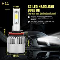 Wholesale car h4 replacement headlight bulb resale online - 1 Pair LED Car Headlight H1 H7 H4 HB2 H8 H11 HB4 Replacement Bulbs Fog Light Auto Headlamp Car styling W set K