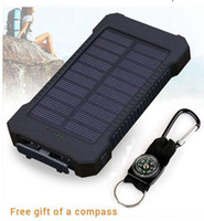 Wholesale iphone ipad solar charger online – Whosale mAh USB Port Solar Power Bank Charger External Backup Battery With Retail Box For iPhone iPad Samsung Mobile Phone