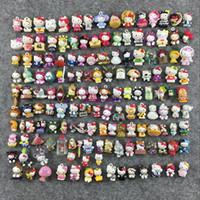 acessórios mini telefone venda por atacado-50 pçs / lote mini hello kitty mistura aleatória (sem pulseira de telefone) figura pvc toy kids phone accessories