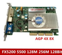 tarjeta de vídeo 8x al por mayor-La tarjeta de video AGP FX5200 128M 128Bit es compatible con una placa base de 8x 4x.