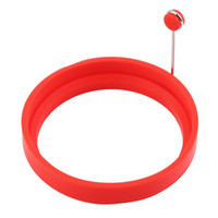 Wholesale fried egg rings online - Silicone Ring Omelette Fried Egg Shaper Eggs Mould for Cooking Breakfast