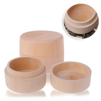 Wholesale crafts candy - Small Round Wooden Storage Box Ring Box Vintage decorative Natural Craft Jewelry box Case Wedding Accessories LX0288
