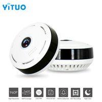 wifi objektiv großhandel-HD 960 P Wifi IP Kamera Home Security Wireless 360 Grad Panorama CCTV Kamera Nachtsicht Fischaugen Objektiv VR Cam YITUO