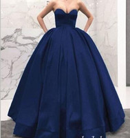 Wholesale red heart queen online - Queen Ball Gown Evening Dresses Sweet Heart Sweep Train Long Formal Special Occasion Dresses Vestidos De Fiesta Plus Size Prom Party Gowns