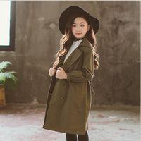 kore kazığı toptan satış-Kızlar Trençkot 2018 Güz Çocuk Mont Moda Yüksek dereceli Çocuk Ceket Kore Kız Prenses Giyim Tatlı Çocuk Giysileri