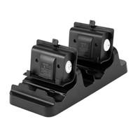 pil takımı kablosu xbox toptan satış-İki Şarj Edilebilir Pil Paketleri ve USB Kablosu ile XBox One Kablosuz Denetleyici Şarj İstasyonu için Çift Şarj Dock