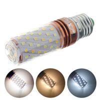 Wholesale Super Bright Color Led - LED Lamp E27 E14 3 Color Temperature Integrated LED Bulb 220V Super Bright LED Corn Light SMD2835 for Chandelier AC110V-220V