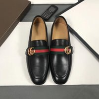 ingrosso modelli vestiti di nero-(scatola originale) Marchio di qualità superiore Scarpe da cerimonia formale per uomini delicati Scarpe in vera pelle nera Scarpe a punta da uomo Business Oxfords modello 1012
