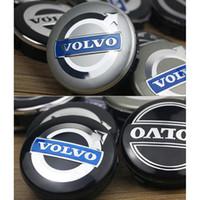 volvo jantlar toptan satış-64mm 65mm 4 adet / takım Araba Styling Volvo S60L XC60 S40 S80 S60 V60 Lastikler Jant Tekerlek Hub Merkezi Kap Kapak Tutucu
