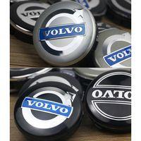 ingrosso coperture volvo-64mm 65mm 4 pz / set Car Styling Volvo S60L XC60 S40 S80 S60 V60 Pneumatici Rim Mozzo Centro Centro Cap Cover Holder