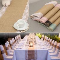 tischdecke stuhl großhandel-Leinen Tischfahne Banner Spitze Tischläufer Europäischen stil Mode Tischdecken Hochzeit Stuhlabdeckung Dekor Weihnachten Dekoration