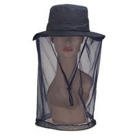 equipamento de campo de verão venda por atacado-Verão Midge Mosquito Hat Net Para A Mulher Anti Insect Mesh Head Rosto Net Protetor de Viagem Ao Ar Livre Camping Caminhadas Pesca Cap Engrenagem