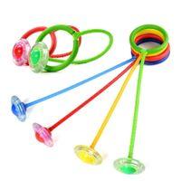 corde de balle clignotante achat en gros de-LED couleur aléatoire clignotant Saut à billes en plein air Fun Balls jouets pour enfants Enfant Sport Mouvement cheville saut couleur Rotating balles rebondissantes