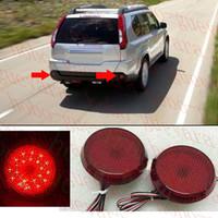 противотуманные фары для nissan оптовых-2шт для 2011 Nissan X-Trail авто круглый задний бампер противотуманные фары LED крышка ремонт diy