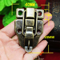 Wholesale furniture chests - Vintage Lock Antique Metal Jewelry Chest Box Gift Box Suitcase Case Buckles Toggle Hasp Latch Catch Clasp Furniture Hardware